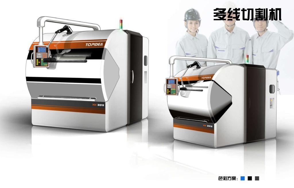 多线切割机外观设计_流水线设计_多线切割机结构设计